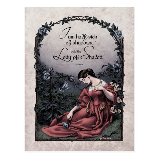 "Carte postale victorienne de Tennyson ""Madame de S"