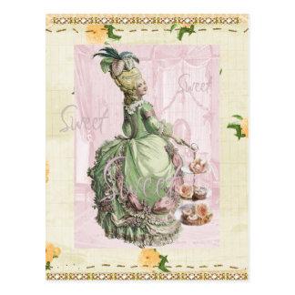 carte postale vide d'Antoinette de marie