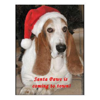 Carte postale vide de pattes de Père Noël