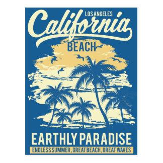 Carte Postale Vie en plage sans fin de la Californie d'été de