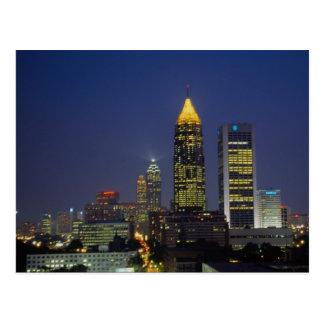Carte Postale Vie nocturne passionnante, Atlanta, la Géorgie,