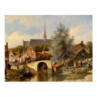 Carte Postale Vie quotidienne en édam - Petrus Gerardus Vertin