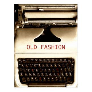 Carte Postale Vieil amour de mode - machine de machine à écrire