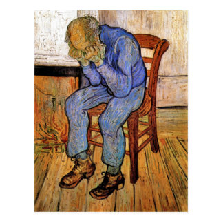 Carte Postale Vieil homme dans la peine par Vincent van Gogh