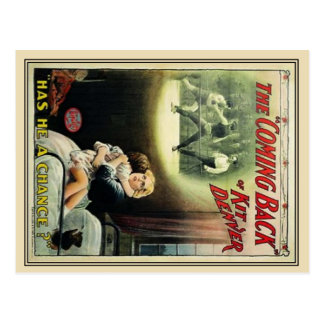 Carte Postale Vieille affiche de film