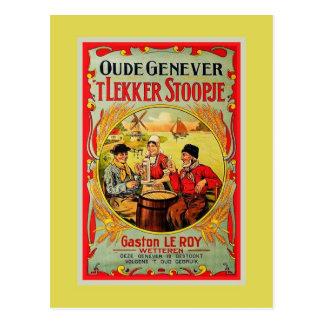Carte Postale Vieille annonce vintage de Genever de Flamand