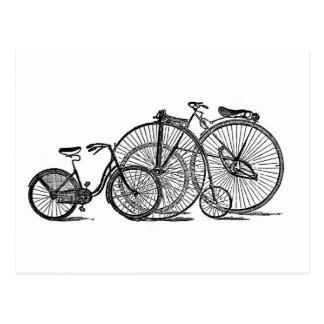 Carte Postale Vieille bicyclette vintage de mode