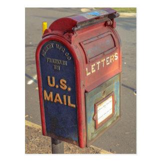 Carte Postale Vieille boîte aux lettres