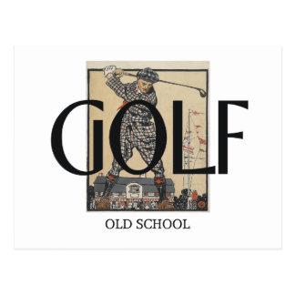 Carte Postale Vieille école de golf SUPÉRIEUR