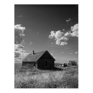 Carte Postale vieille ferme de prairie en Saskatchewan Canada