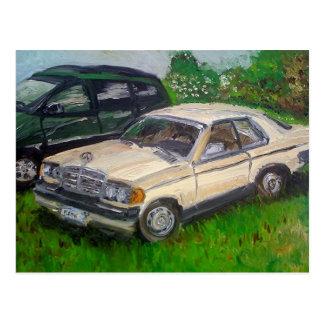 Carte Postale Vieille peinture de Mercedes