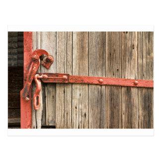 Carte Postale Vieille porte rustique de train de chemin de fer