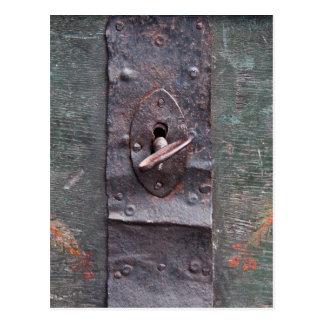 Carte Postale Vieille serrure avec la clé