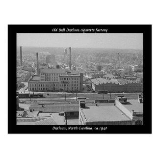 Carte Postale Vieille usine de cigarette de Taureau Durham
