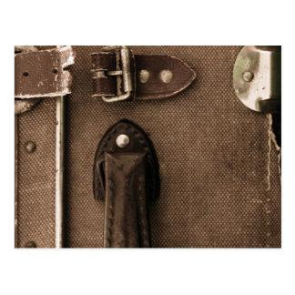 Carte Postale Vieille valise de Brown