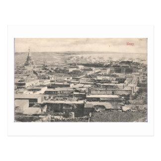 Carte Postale Vieille vue de Bakou (1911) - avec la cathédrale