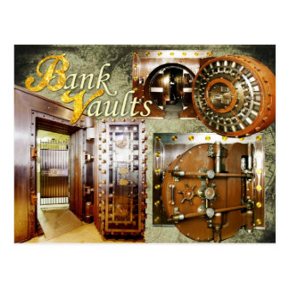 Carte Postale Vieilles chambres fortes de banque