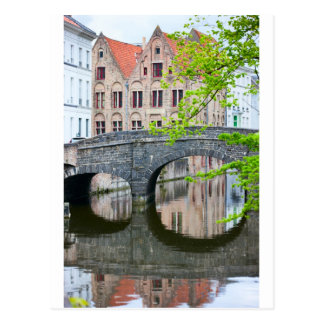 Carte Postale Vieilles maisons à Bruges, Belgique