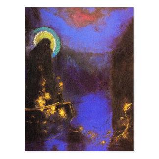 Carte postale :  Vierge avec la peinture