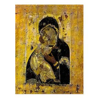 Carte Postale Vierge d'icône ukrainienne Madonna de Kyiv