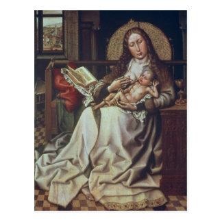 Carte Postale Vierge et enfant avant un Firescreen, c.1440