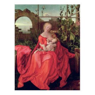 """Carte Postale Vierge et enfant """"Madonna avec l'iris"""", 1508"""