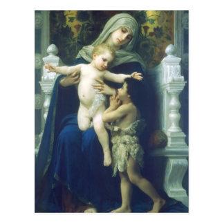 Carte Postale Vierge, Jésus et St John de William Bouguereau-The