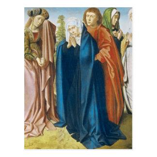 Carte Postale Vierge Marie avec St John l'évangéliste