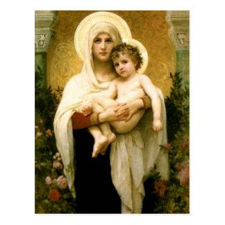 Carte Postale Vierge Marie béni et enfant Jésus de nourrisson
