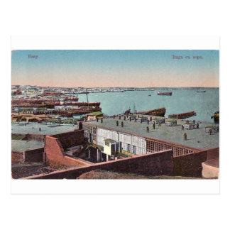 Carte Postale Vieux Bakou - vue de la Mer Caspienne - morya de