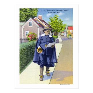 Carte Postale Vieux crieur public du YE sonnant Bell