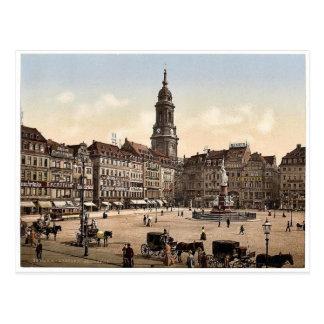 Carte Postale Vieux marché, Altstadt, magnétique de Dresde,