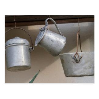 Carte Postale vieux pots et casseroles