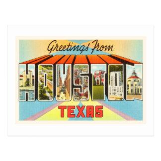 Carte Postale Vieux souvenir vintage de voyage de Houston le