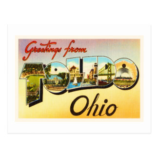 Carte Postale Vieux souvenir vintage de voyage de Toledo Ohio OH