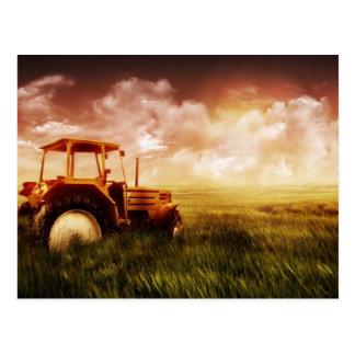 Carte Postale Vieux tracteur