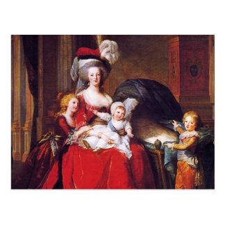Carte Postale Vigée-Lebrun - Marie Antoinette et ses enfants