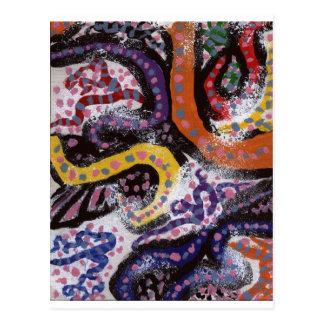 Carte Postale Vignes colorées 1