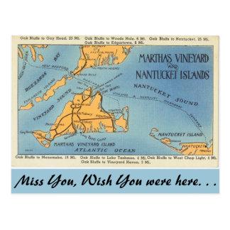 Carte Postale Vignoble du Massachusetts Marthas, îles de