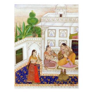 Carte Postale Vilaval Ragini : Femme à sa toilette