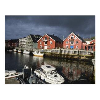 Carte Postale Village de pêche Henningsvaer, outre de saison,
