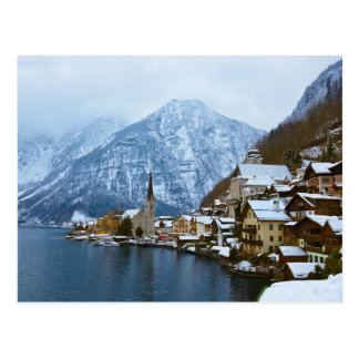 Carte Postale Village Hallstatt sur le lac - Salzbourg Autriche