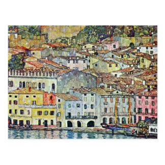 Carte Postale Village italien Malcena chez le Gardasee par Klimt