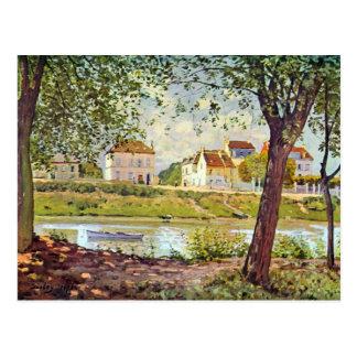 Carte Postale Village sur les banques de la Seine par Alfred