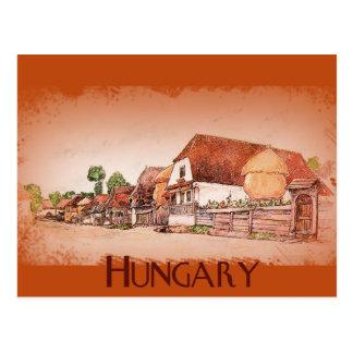 Carte Postale Village vintage de la Hongrie