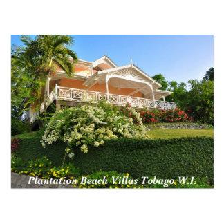 Carte Postale Villas Tobago W.I. de plage de plantation