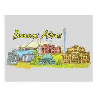 Carte Postale Ville célèbre de Buenos Aires, Argentine