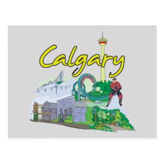 Carte Postale Ville célèbre de Calgary, Canada