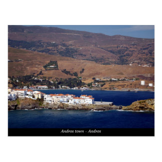 Carte Postale Ville d'Andros - Andros