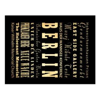 Carte Postale Ville de Berlin d'art de typographie de
